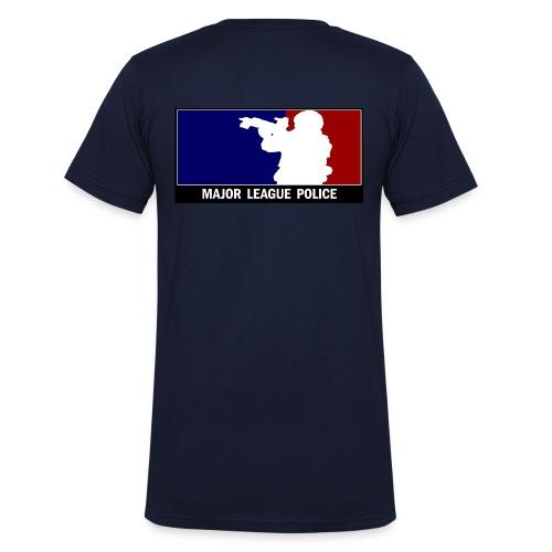 Major League Police hinten - Männer Bio-T-Shirt mit V-Ausschnitt von Stanley & Stella