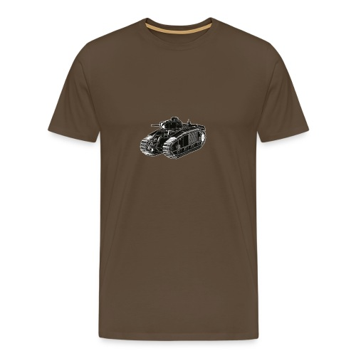 Char B1 Bis T-Shirt (Green) - Men's Premium T-Shirt