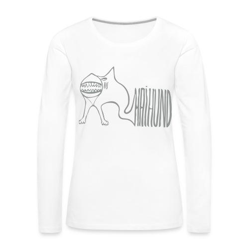 Haihund1 - Frauen Premium Langarmshirt