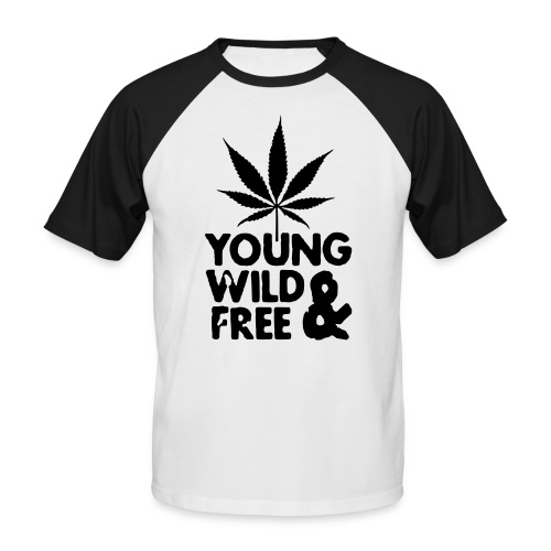 Young wild & free Tee - T-shirt baseball manches courtes Homme