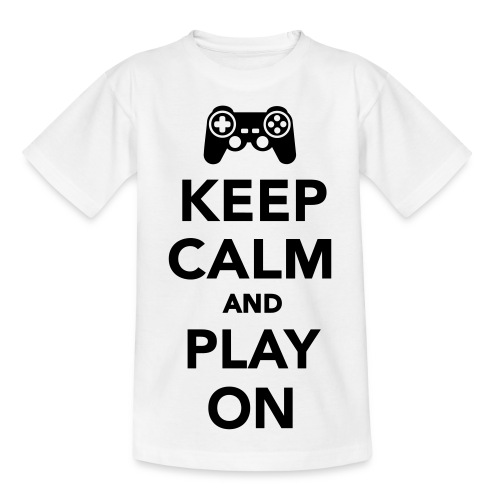 Keep Calm And Play On Kids & Babies T-Shirt - Kids' T-Shirt