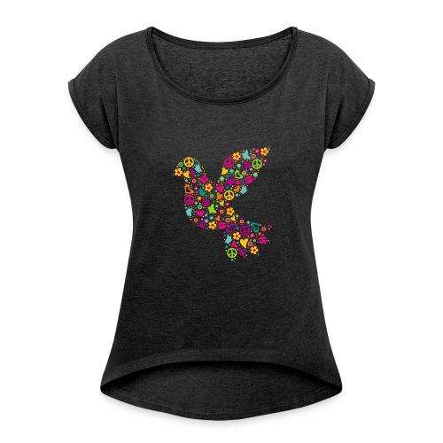 Bird of Peace - T-shirt à manches retroussées Femme