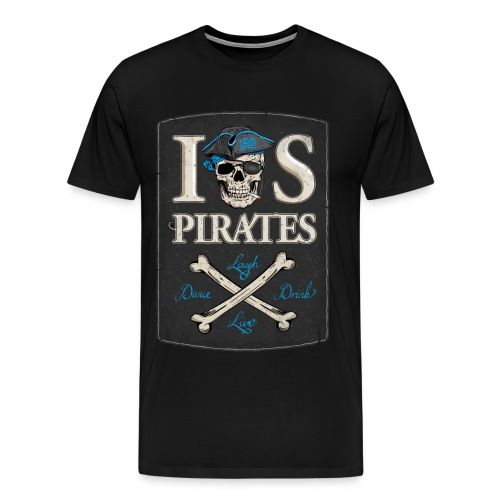 IOS Pirates T-Shirt (round neck), Men  - Männer Premium T-Shirt