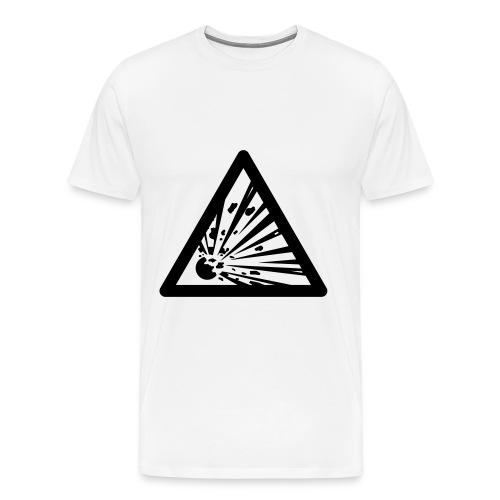 Mens- explosives sign - Men's Premium T-Shirt