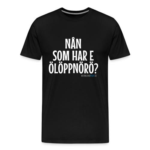 Ölöppnörö? - Premium-T-shirt herr