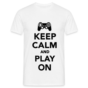 Keep Calm And Play On Men's T-Shirt - Men's T-Shirt