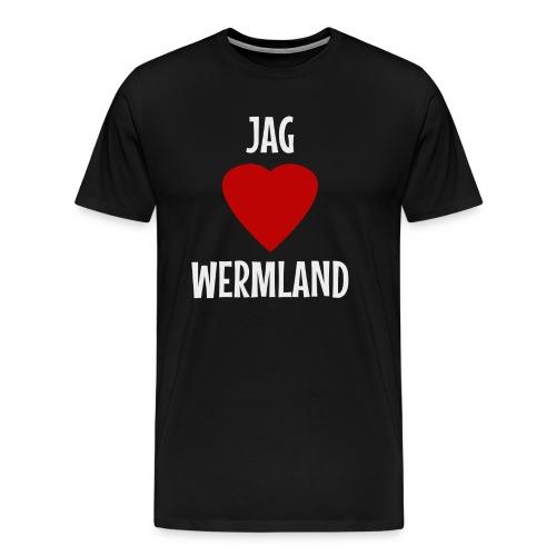 Jag Hjärta Wermland - Premium-T-shirt herr