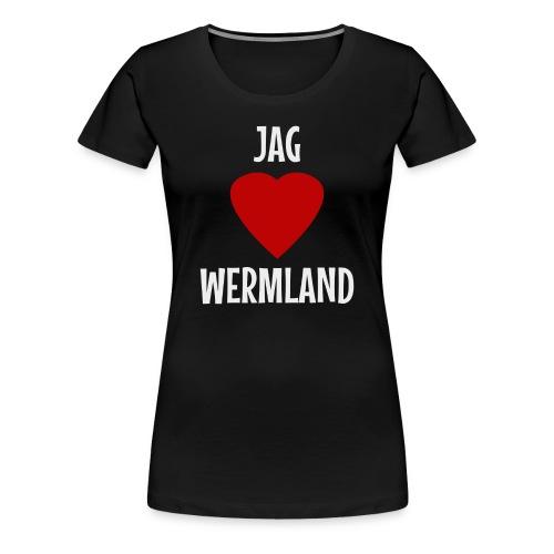 Jag Hjärta Wermland - Premium-T-shirt dam