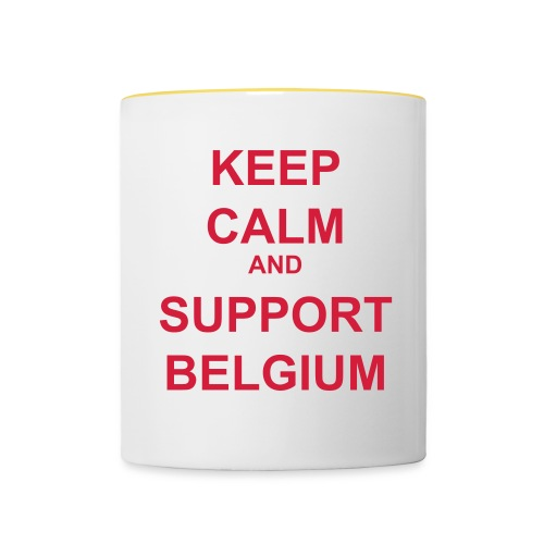Keep Calm Support Belgium - Tasse bicolore