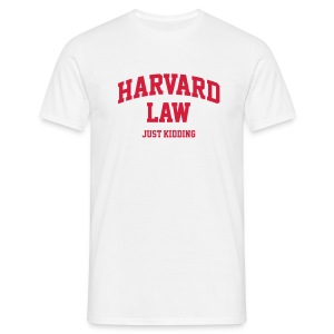 Harvard Law - Männer T-Shirt