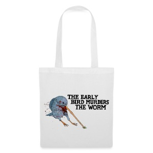 Early Bird Murders Worm - Tote Bag (Choose Colour) - Tote Bag
