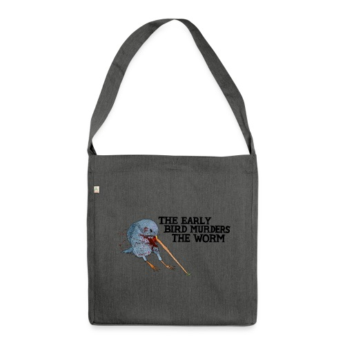 Early Bird Murders Worm - Bag (Choose Colour) - Shoulder Bag made from recycled material