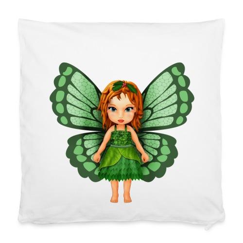 Kleine Fee, Elfe mit Blättern - Pillowcase 40 x 40 cm