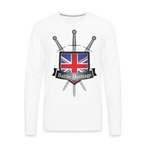 Battle Heritage Logo Men's Long Sleeved - Men's Premium Longsleeve Shirt