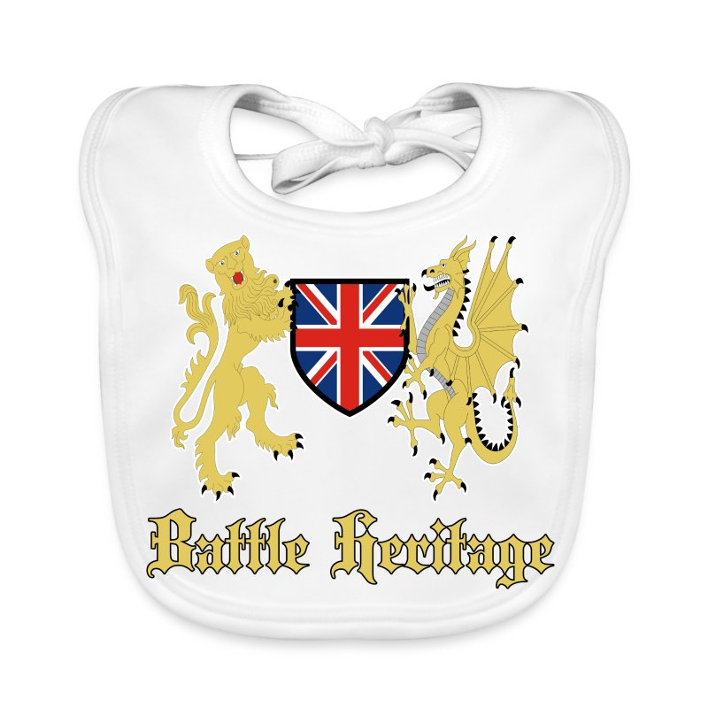 Battle Heritage Lion Dragon Kiddies Bib - Baby Organic Bib