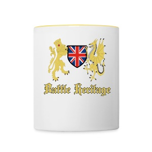 Battle Heritage Lion Dragon Mug - Contrasting Mug