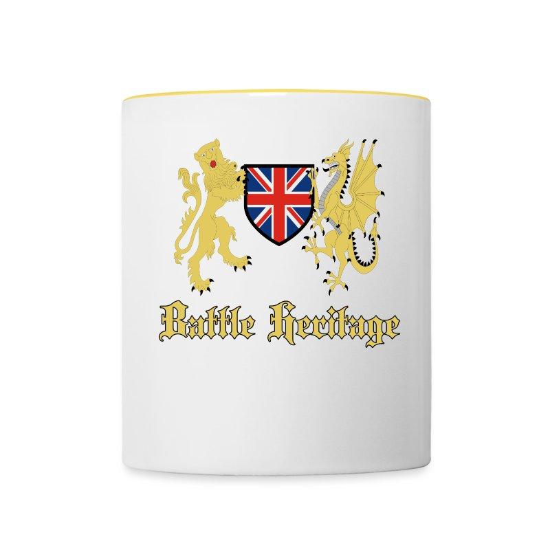 Battle Heritage Lion Dragon Mug - Contrasting Mug
