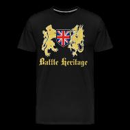 T-Shirts ~ Men's Premium T-Shirt ~ Battle Heritage Lion Dragon Mens T-Shirt