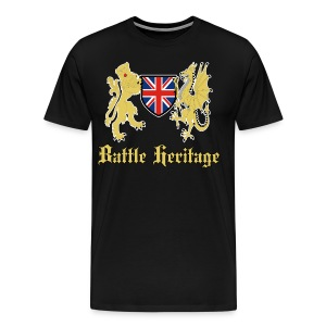 Battle Heritage Lion Dragon Mens T-Shirt - Men's Premium T-Shirt