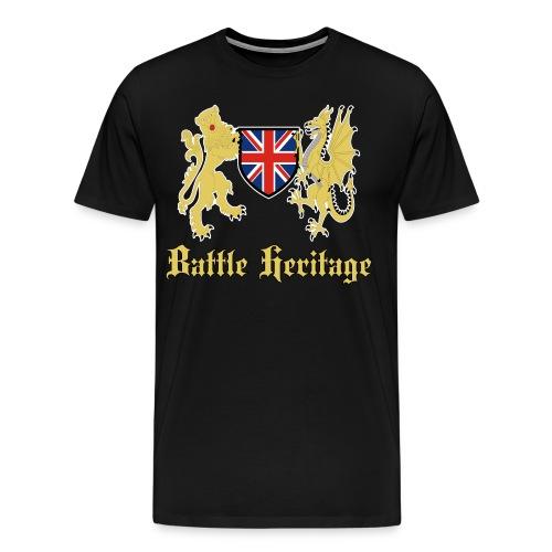 Battle Heritage Lion Dragon Mens T-Shirt - Men's Premium T-Shirt