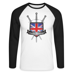 Battle Heritage Logo Men's Long Sleeve Baseball T-Shirt - Men's Long Sleeve Baseball T-Shirt