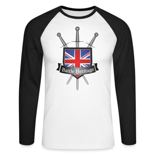 Battle Heritage Logo Men's Long Sleeve Baseball T-Shirt - Men's Long Sleeve Baseball T-Shirt