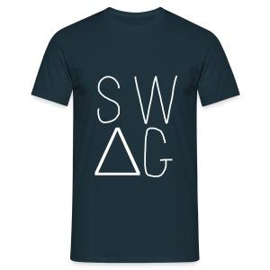 Tee Shirt Swag AU TOP Bleu Marine - T-shirt Homme