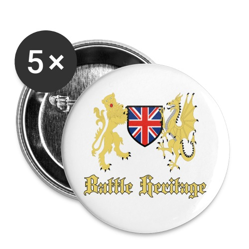 Dragon & Lion Logo Badges - Buttons large 2.2''/56 mm(5-pack)
