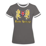 T-Shirts ~ Women's Ringer T-Shirt ~ Women's T Shirt Dragon & Lion Logo