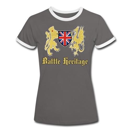 Women's T Shirt Dragon & Lion Logo - Women's Ringer T-Shirt