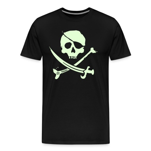 Pirate Crew - Men's Shirt (White print, glows green in the dark) - Mannen Premium T-shirt