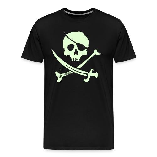 Pirate Crew - Men's Shirt (White print, glows green in the dark) - Mannen Premium T-shirt