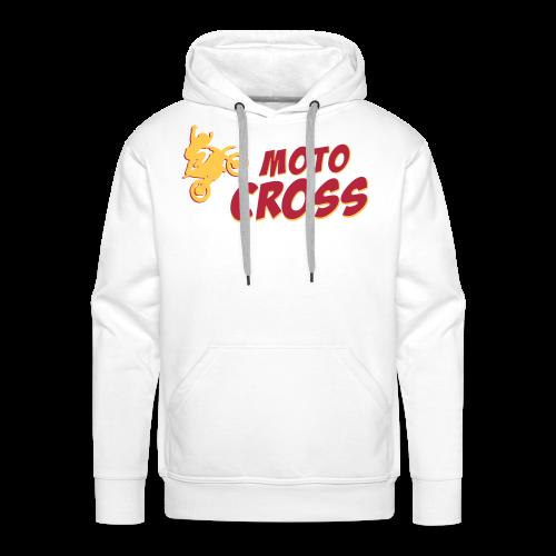 MotoCross BD - Sweat-shirt à capuche Premium pour hommes