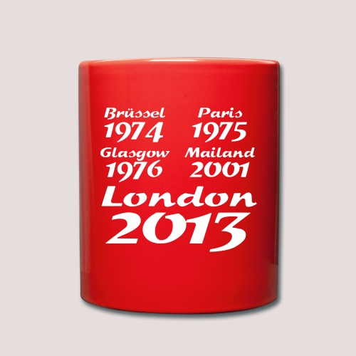 Europapokalsieger - Tasse einfarbig
