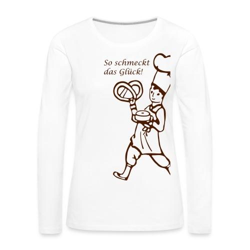 Cafe Schober Frauen Long-Shirt weiß - Frauen Premium Langarmshirt