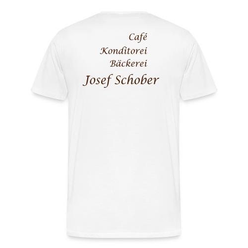 Cafe Schober Herren T-Shirt weiß - Männer Premium T-Shirt
