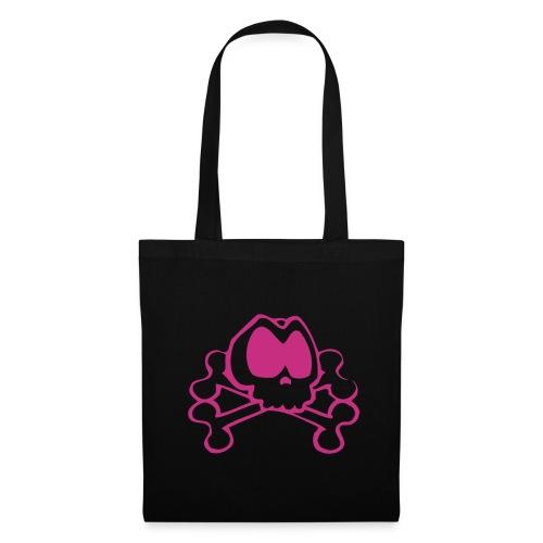 Tasche pink Skull - Stoffbeutel