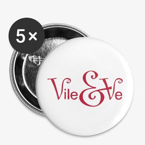 Vile&Ve - The Button - Middels pin 32 mm (5-er pakke)