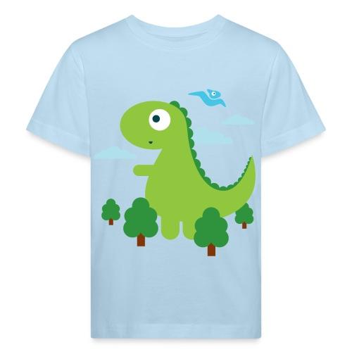 dino im wald - Kinder Bio-T-Shirt