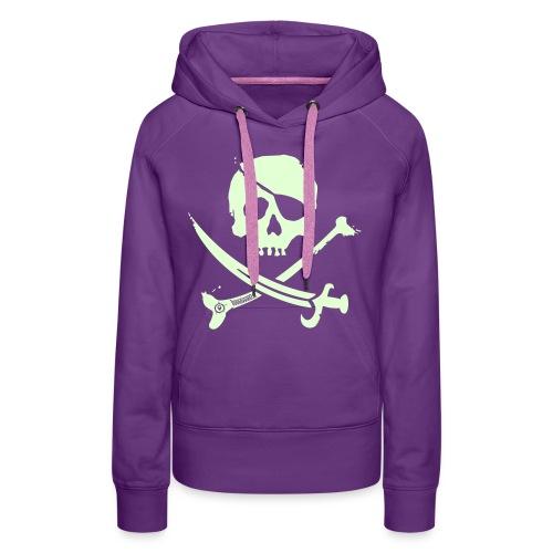 Pirate Crew - Women's Hoodie (White print, glows green in the dark) - Vrouwen Premium hoodie
