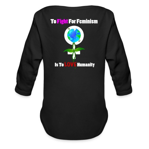 Global Feminism - Organic Longsleeve Baby Bodysuit