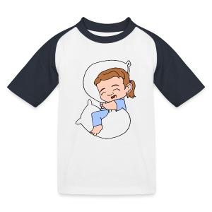 Kids' Sleeping Girl Baseball T - Kids' Baseball T-Shirt