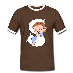 Men's Sleeping Girl Ringer T shirt - Men's Ringer Shirt