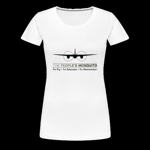 Women's Motto T-Shirt - White - Women's Premium T-Shirt