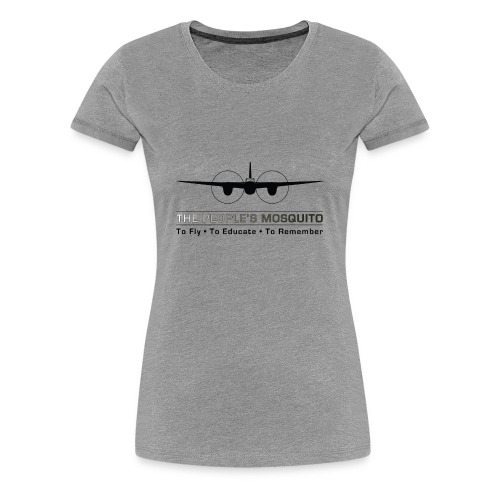 Women's Motto T-Shirt - Grey - Women's Premium T-Shirt