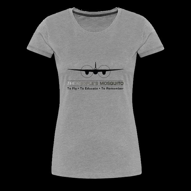 """Women's """"Motto"""" T-Shirt - Grey"""