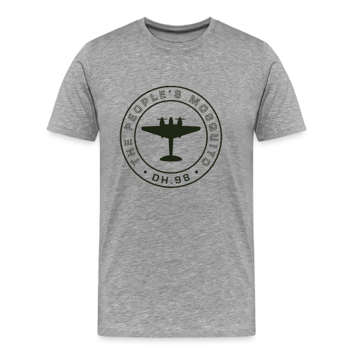 Men's MP Outline T-Shirt - Grey - Men's Premium T-Shirt