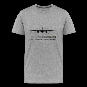 Men's Motto T-Shirt - Grey - Men's Premium T-Shirt