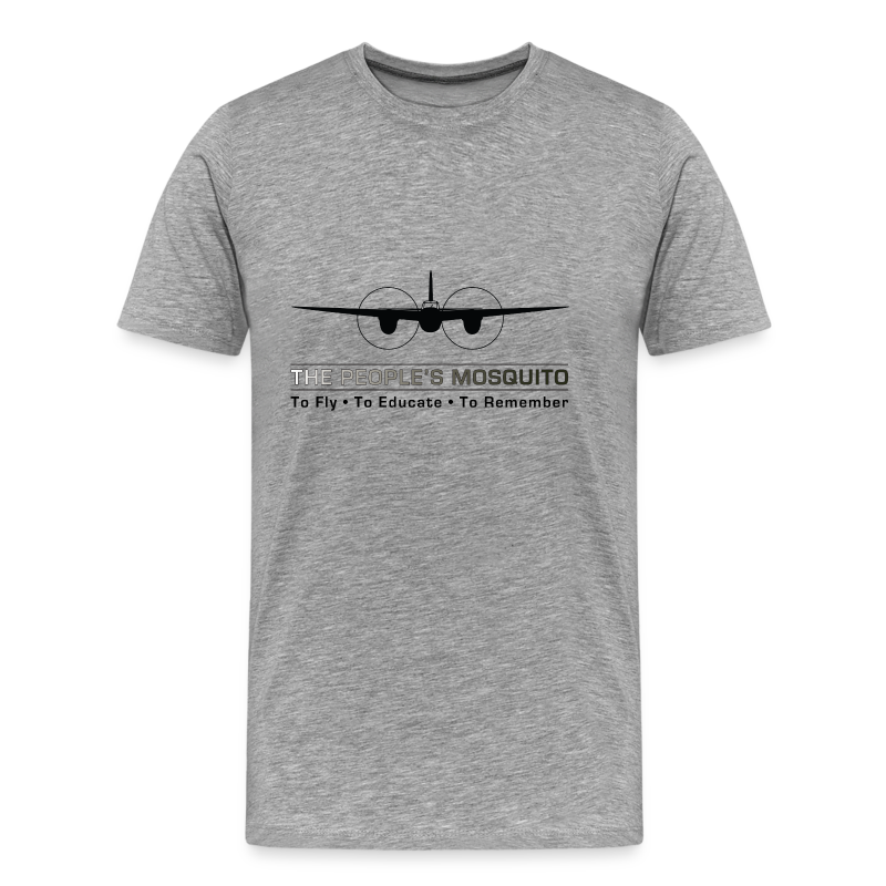 Men's Motto T-Shirt - Grey - Men's Premium T-Shirt