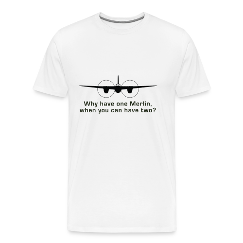 Men's Merlins T-Shirt - White - Men's Premium T-Shirt